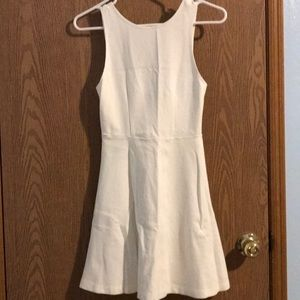 Sleeveless White Flare Dress